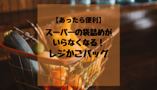 【あったら便利】スーパーの袋詰めがいらなくなる!レジかごバッグ